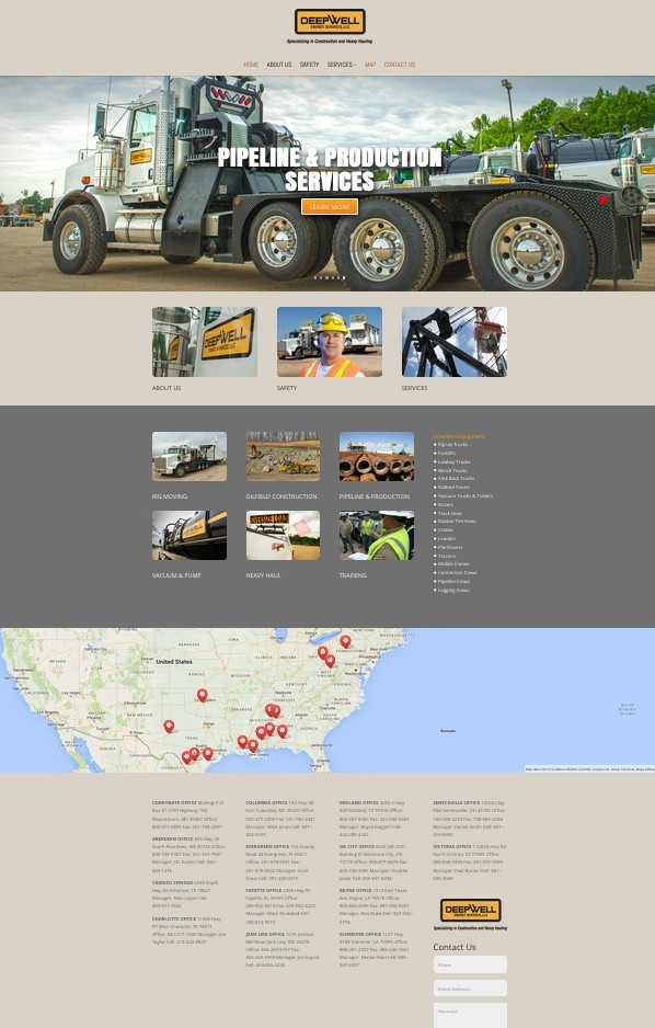 Website for DeepWell Energy Services