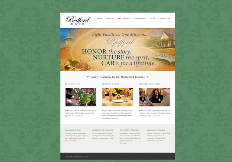 Bedford Care Centers Website