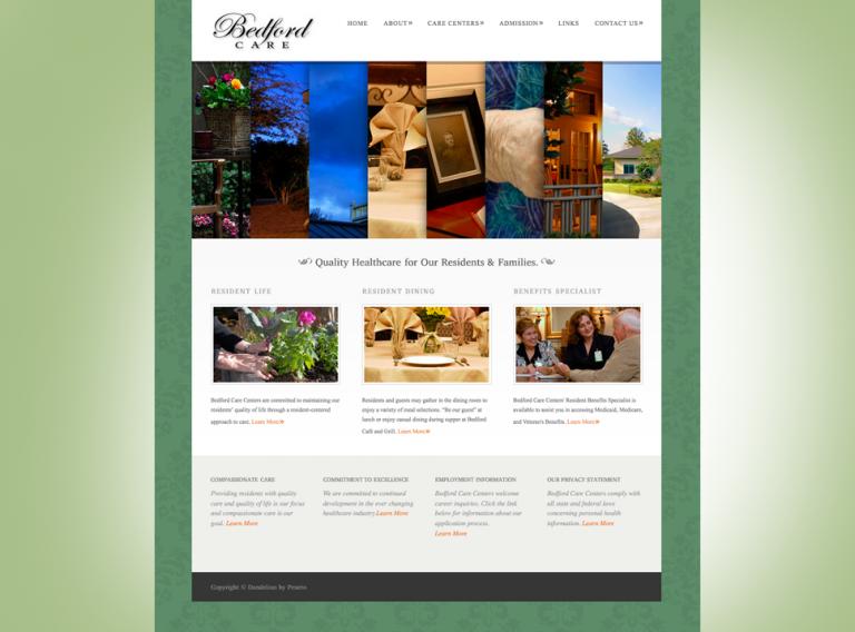 Bedford Care Centers Website