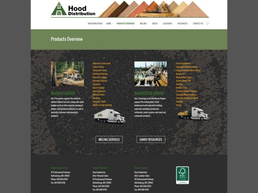 Hood Distribution Website