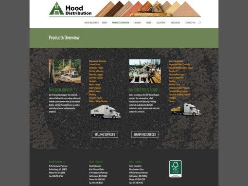 Hood Distribution Website
